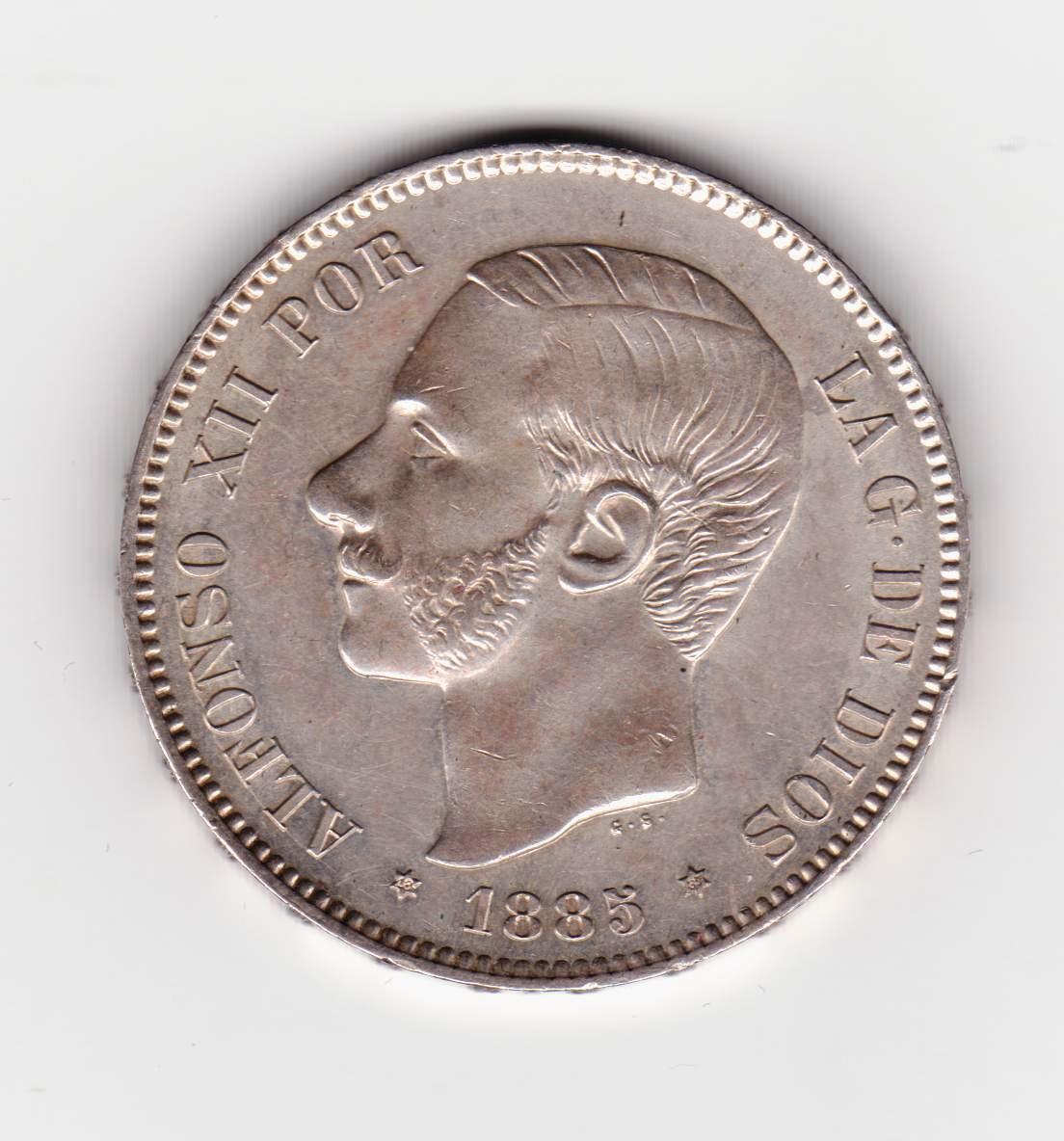 5 pesetas 1885*87 MSM 5_PESETAS_1885_MSM_87
