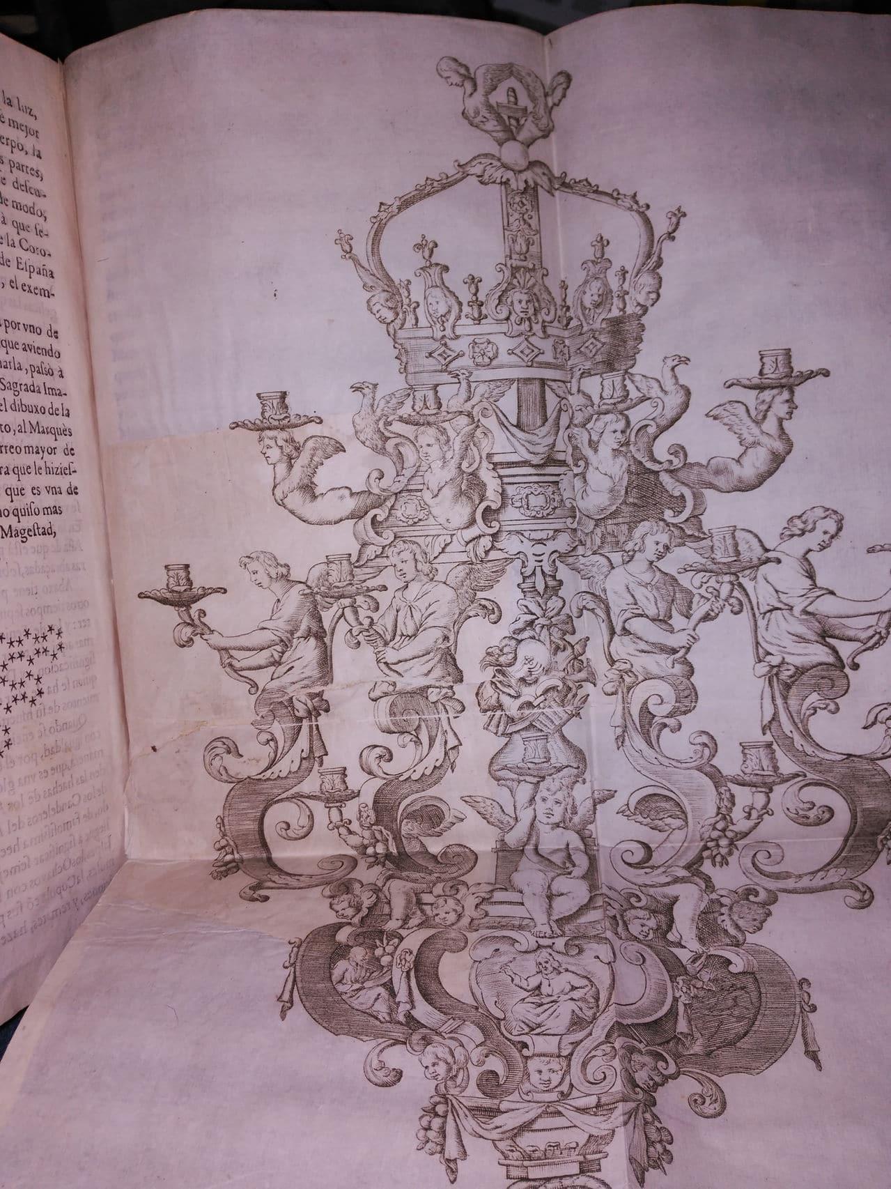 Libro sobre el Real Monasterio de San Lorenzo de el Escorial. Dedicado a Marqués de la Ensenada. Restauracion_y_refuero_antiguo_lamina_delante2