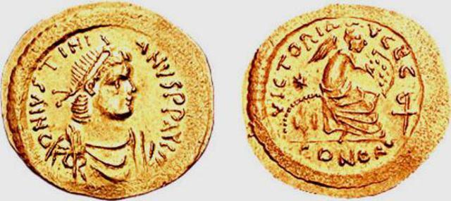 Denominación de las monedas de Bizancio. 1ª parte Semissis