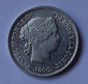 1 real 1860. Isabel II. Barcelona DSC01248