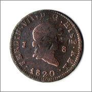 8 Maravedis 1820 Fernando VII  1820_Fernando_VII_ocho_Maravedis_Juvia_Anverso
