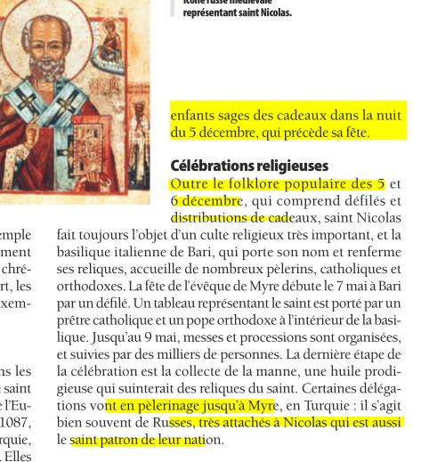 Saint Nicolas cousin du Pére Noel Image