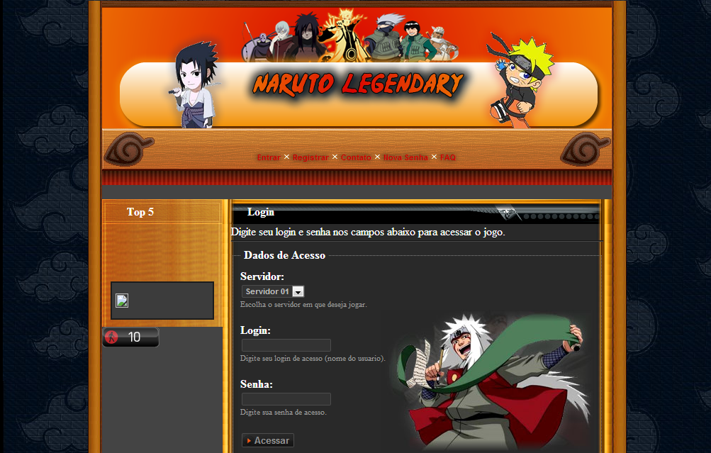 NL-Naruto Legendary Browser Game Naruto Screenshot_1