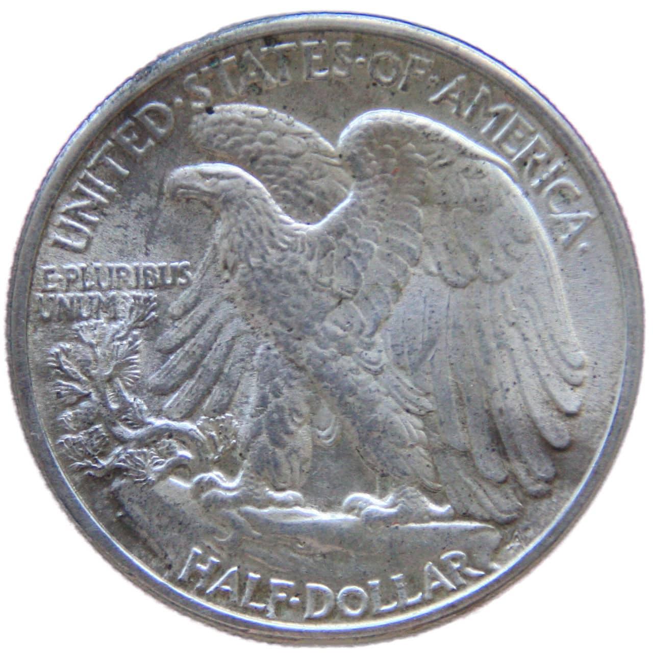 Medio dolar 1942 libertad andando 0133