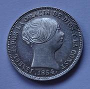 1 real 1854. Isabel II. Barcelona DSC01247