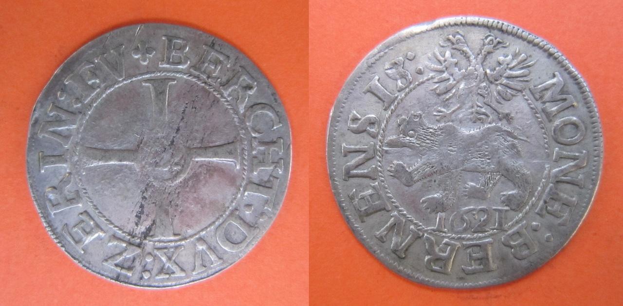 12 Kreuzer. Berna, Suiza. 1621 12_Kreuzer_Berna_1621