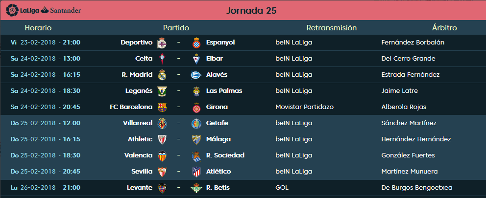 LIGA J25ª: ATHLETIC CLUB vs MALAGA CF (Dom 25/Feb 16:15 / Bein LaLiga) JORNADA_LFP