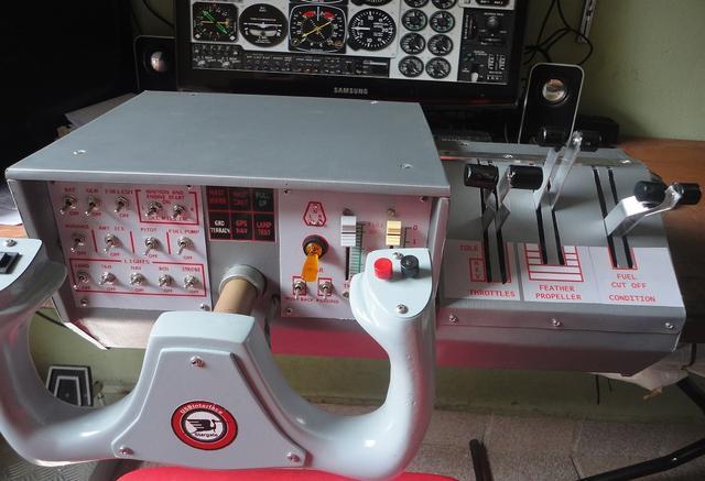 Projeto Quadrante Throttles  Minicockpitkingair