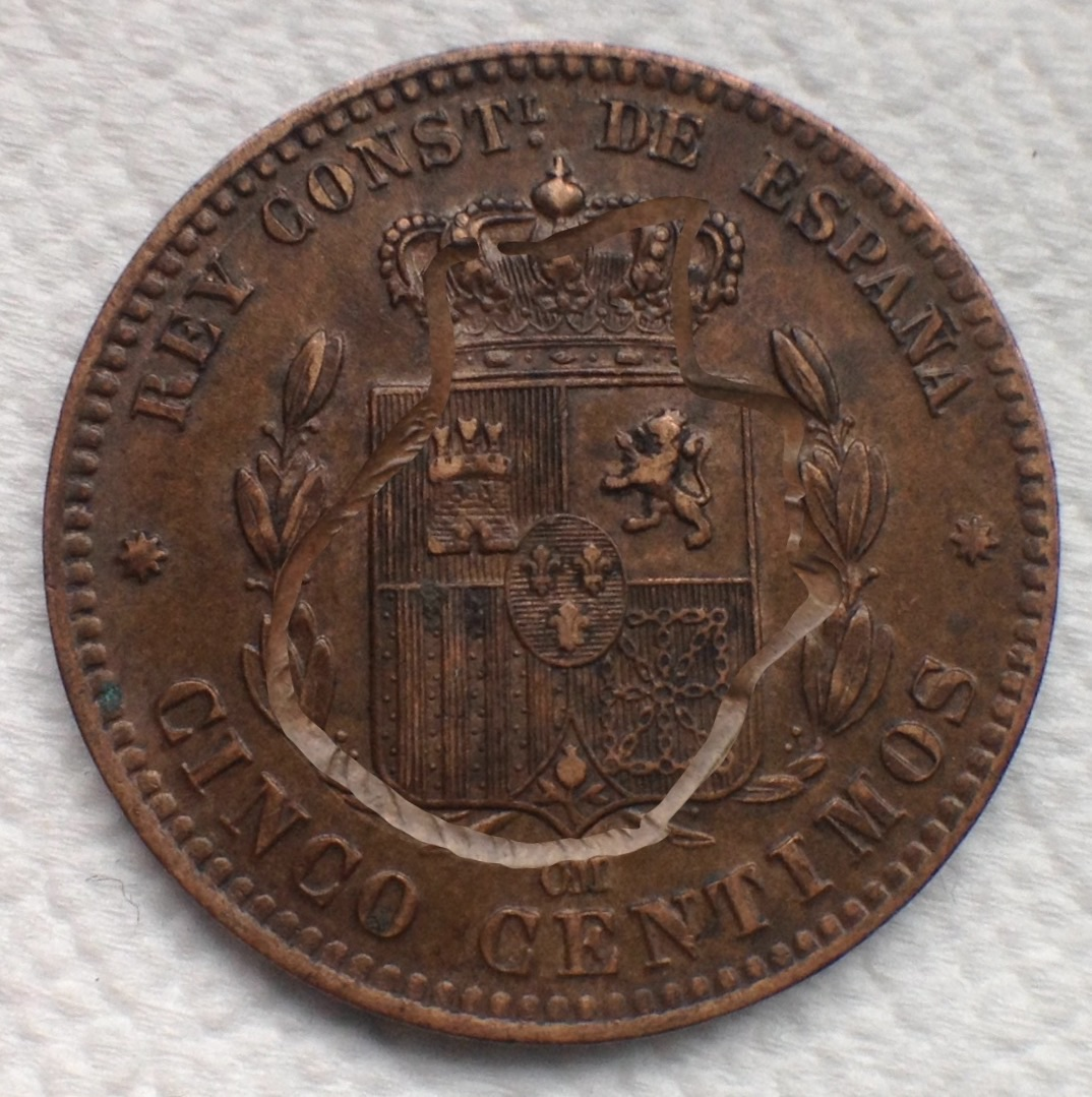 5 céntimos 1877 Alfonso XII Image