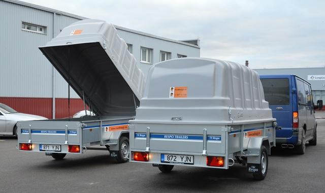 Autotreilerite, kastiga ja kaanega haagiste rent Tallinnas Respo_netti