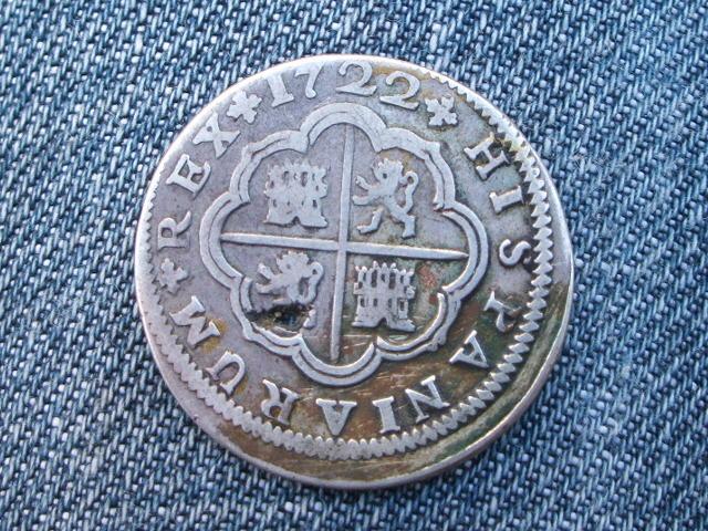 2 reales Felipe V, Sevilla. 1722. Sii_2