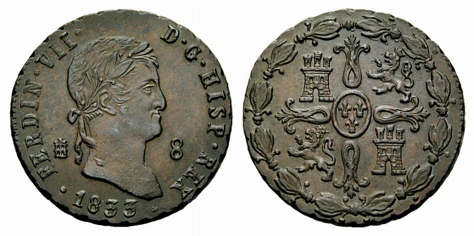 8 Maravedís 1833. Fernando VII. Segovia. ¿EBC+/SC-? - Página 2 111