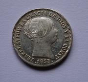 1 real 1853. Isabel II. Barcelona DSC00767