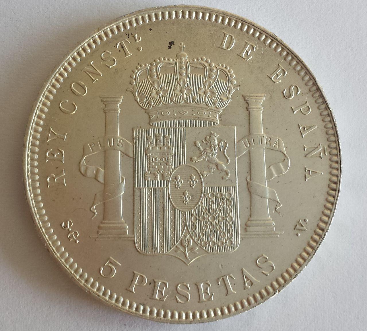 5 pesetas 1899 S-GV 20141024_151202