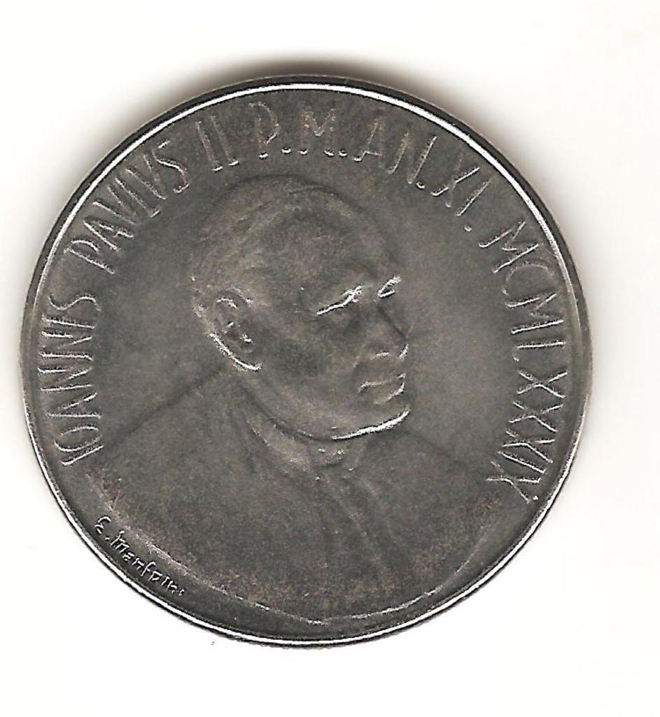 100 liras El Vaticano 1989 Image