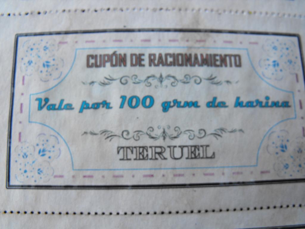 CUPONES y VALES DE RACIONAMIENTO ¡¡Todos falsos cuidado!! DRT3_EW