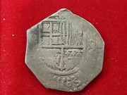 2 reales macuquinos  Sevilla Felipe II  R715_1