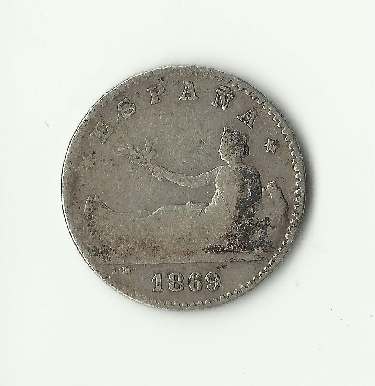 50 céntimos 1869 *6*9. Gobierno Provisional. 50_cents_1869_rev