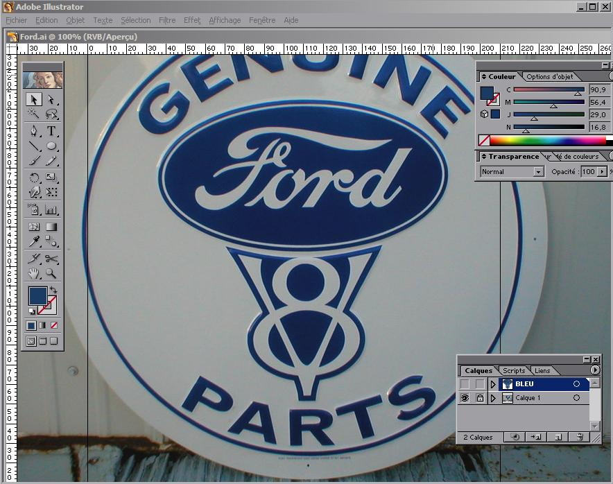 Leather painting.... FORD_2