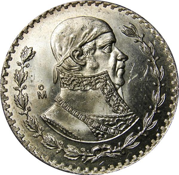 1 Peso. 1971. México 67_REV