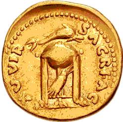 Glosario de monedas romanas. CUERVO. Image