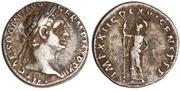 Denario de Domiciano. IMP XXII COS XVI CENS P P P. Minerva estante a izq. Ceca Roma. Domiciano