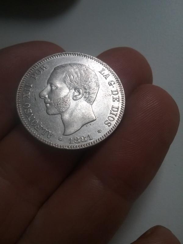 2 pesetas 1881. Alfonso XII 14934903464761314451668
