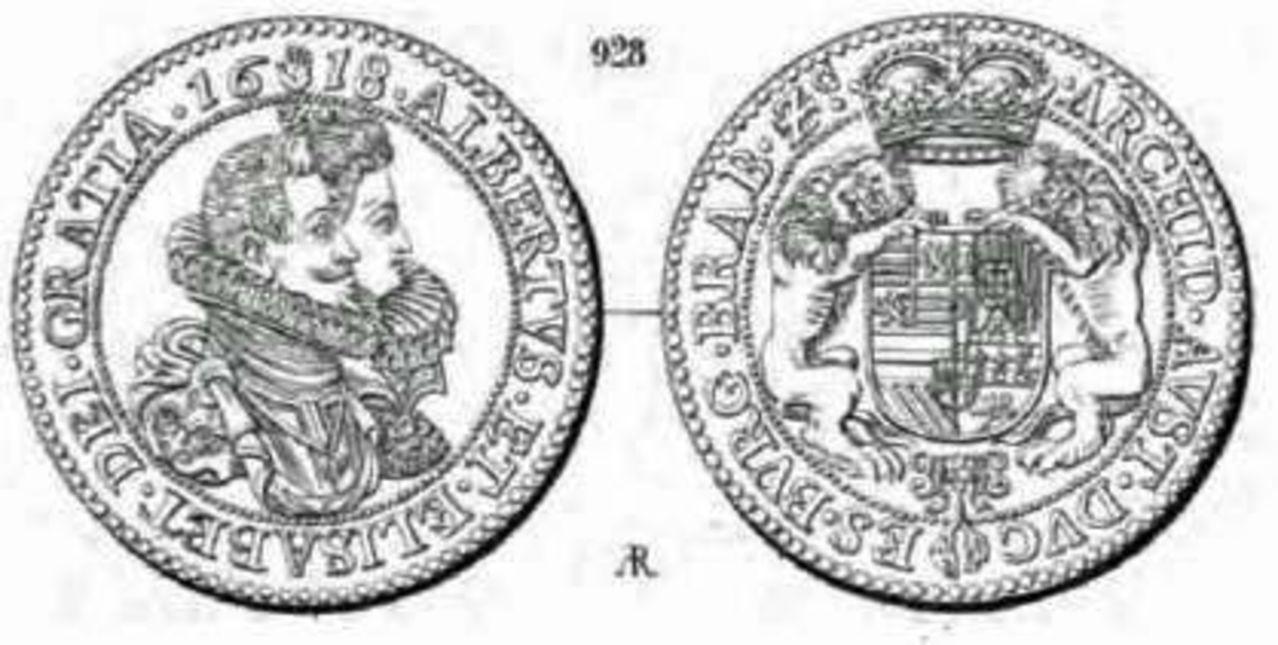 Ducatón de Alberto e Isabel. 1619. Ducado de Brabante (Amberes). Image