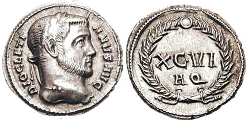 Glosario de monedas romanas. DENARIO ARGENTEO. Image