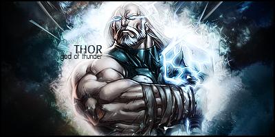 Abecedarios de superheros/villanos Thor