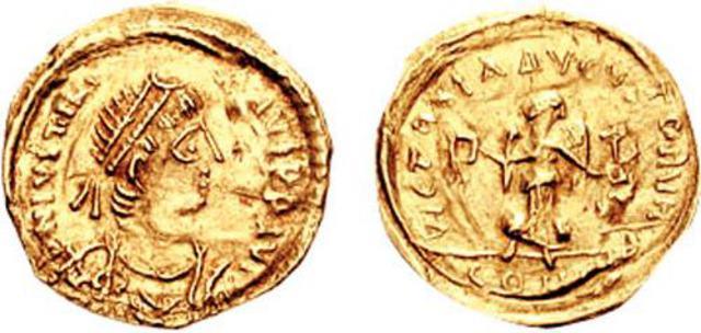 Denominación de las monedas de Bizancio. 1ª parte Medio_tremis