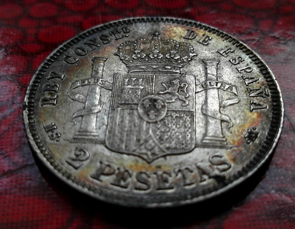 2 pesetas 1882. Alfonso XII. Peseton pátina negra  IMG_20171225_125552