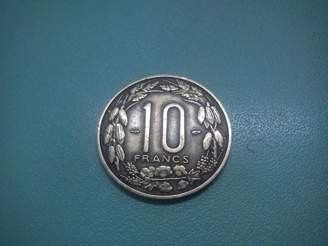 10 Francs. Camerún. 1958. París DSC00404