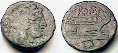 Denominación de monedas en la antigua Roma: La República. 0_0cuadrans_repu