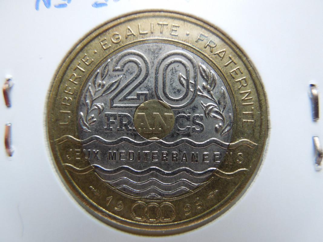 20 francos trimetálicos. 1993. Francia. DSCN0587