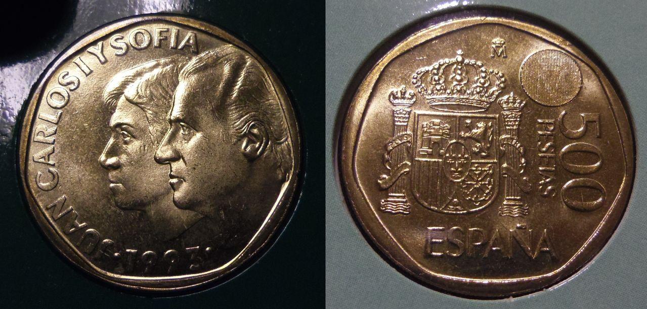 500 Pesetas. Juan Carlos I. Madrid. 1993. Proof. La primera del mundo con imagen latente. IMGP6437