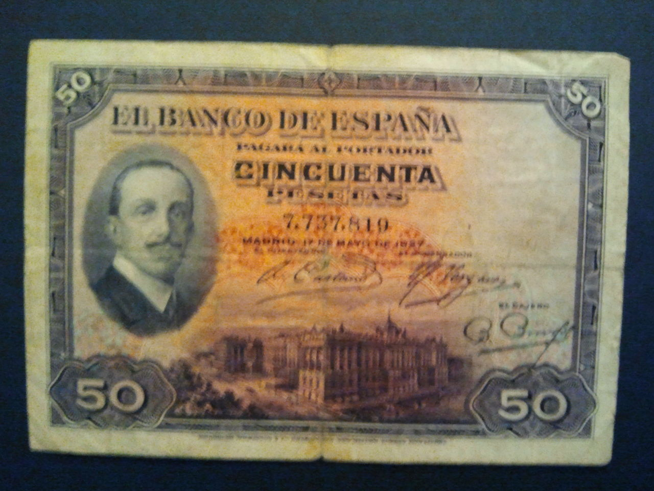 50 Pesetas 1927 (Alfonso XIII) 2014_03_14_20_40_50