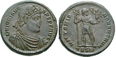 Glosario de monedas romanas. DOBLE CENTENIONAL. Image