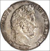 5 francs louis philippe I 1847 A Francia Image