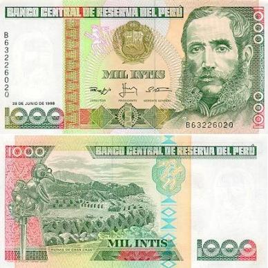 100 Intis Perú, 1987 Peru1000intis