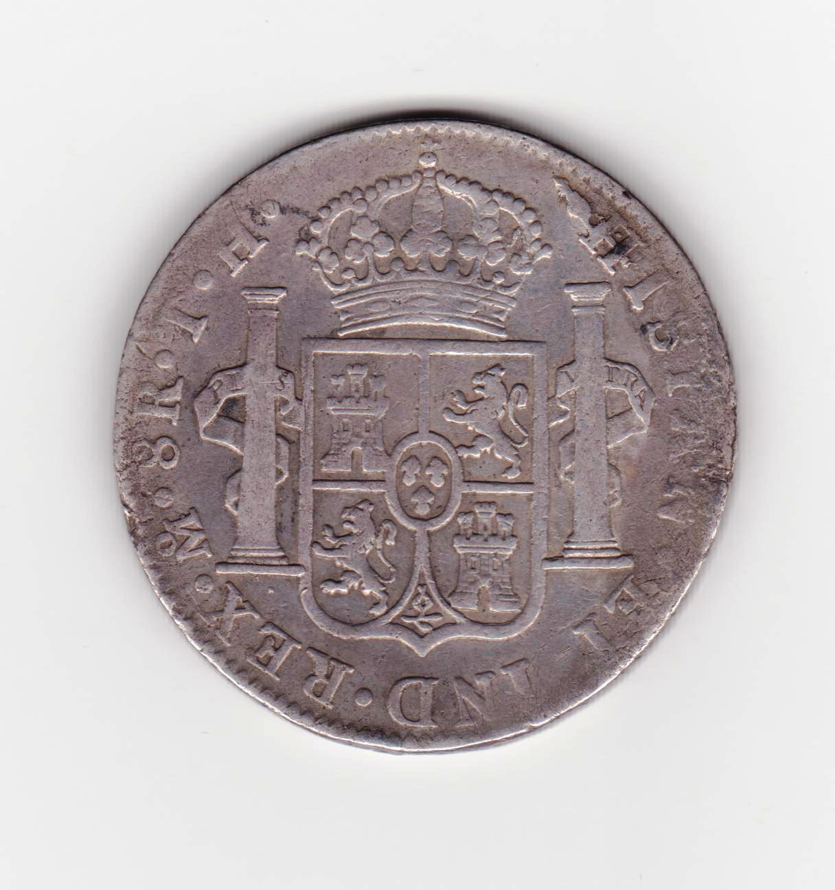 8 reales 1809 Fernando VII, Méjico 8_reales_1809_001