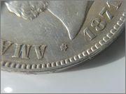 5 pesetas 1871 *18-71 - Amadeo I 20160119_145424