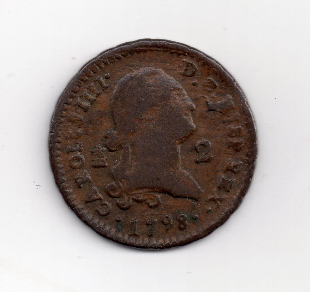 2 Maravedis Carlos IIII 1798, Segovia Img032
