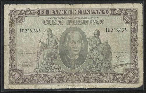 100 Pesetas 1940 (Cristobal Colón) 1940_100_PTAS_ULTIMA_SERIE_I_BC_ANV