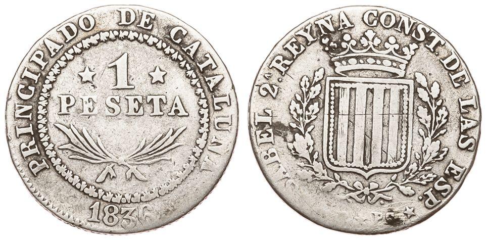 La progesion de la peseta y su decadencia. 1048