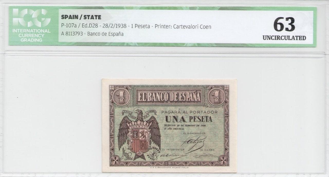 Colección de billetes españoles, sin serie o serie A de Sefcor 38_febrero_anverso