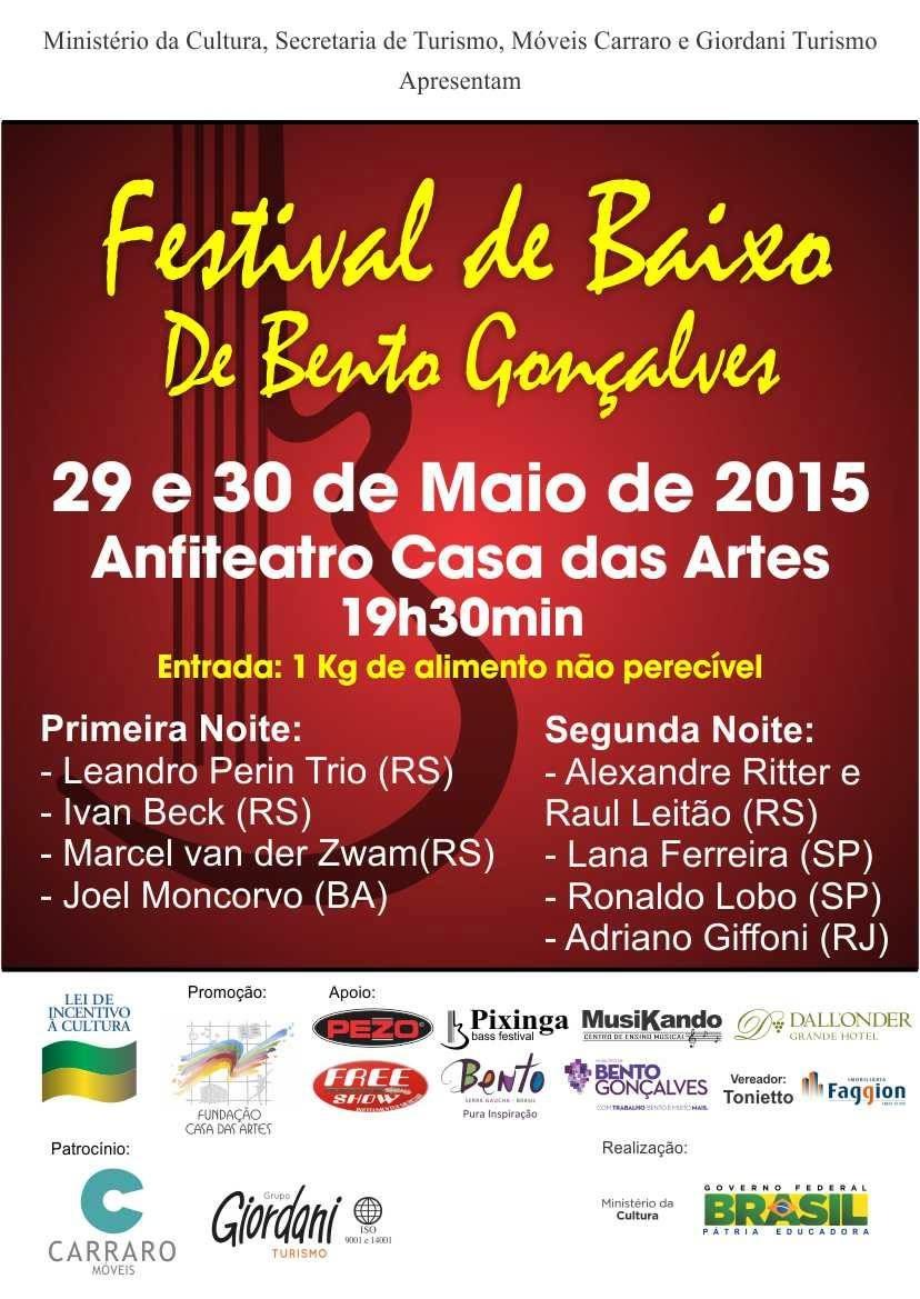 Festival de Baixo de Bento Gonçalves - Maio/2015 Pezo