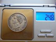 5 pesetas 1875 D.E.  M.   18* 75* DSCN2377