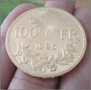 100 Fr.1925 (vreneli) Suiza  Image