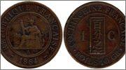 1 Centavo Indochina Cochinchina_Francesa_3_1_Centime_1884